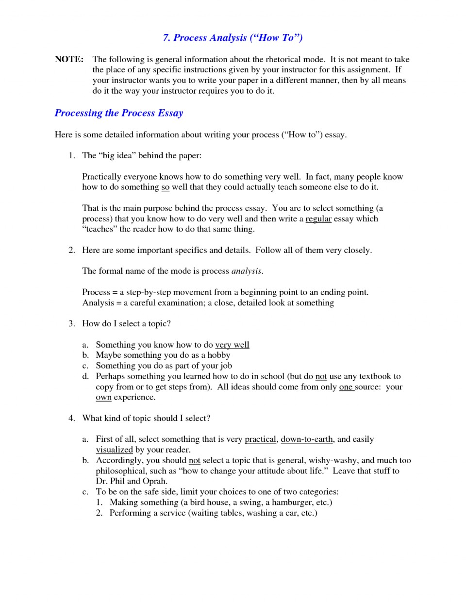 011 Process Essay Examples What Is Analysis Example Of L Best Free Pdf Cooking Middle School 960