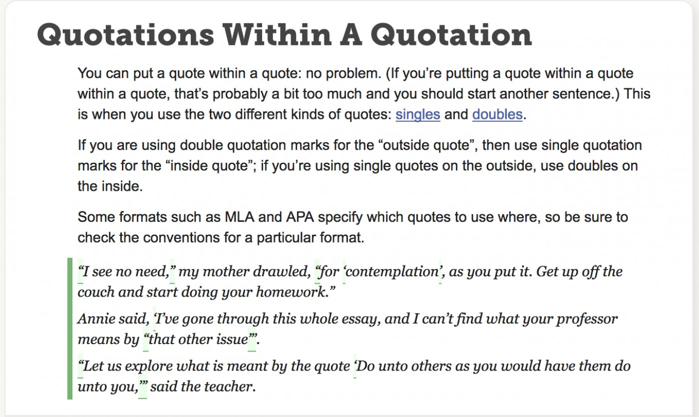 how to cite quotations in an essay