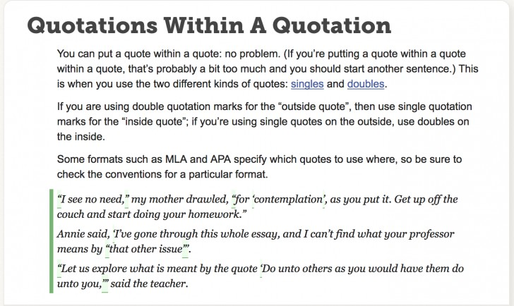 quoting a quote within a quote apa