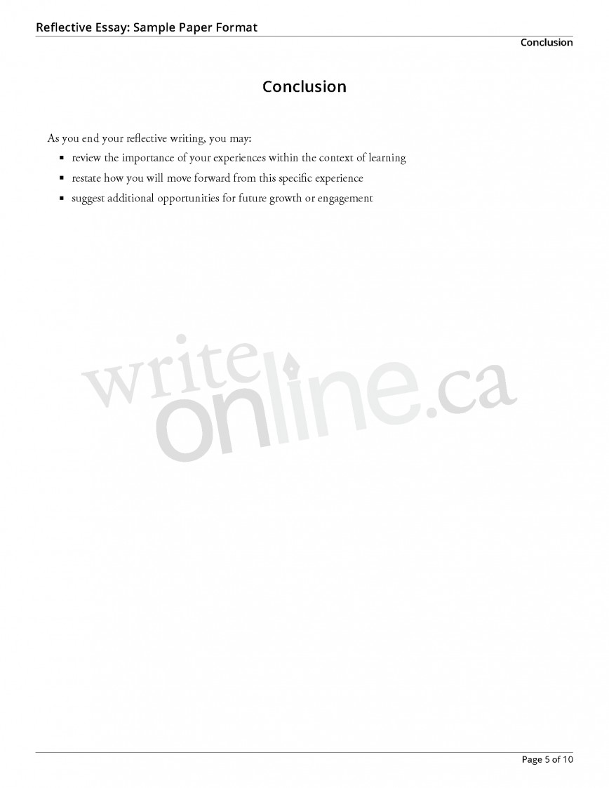 011 Reflectiveessay Sample Page 5 Essay Example English Reflective Fantastic Examples Sqa Higher Personal Advanced 101
