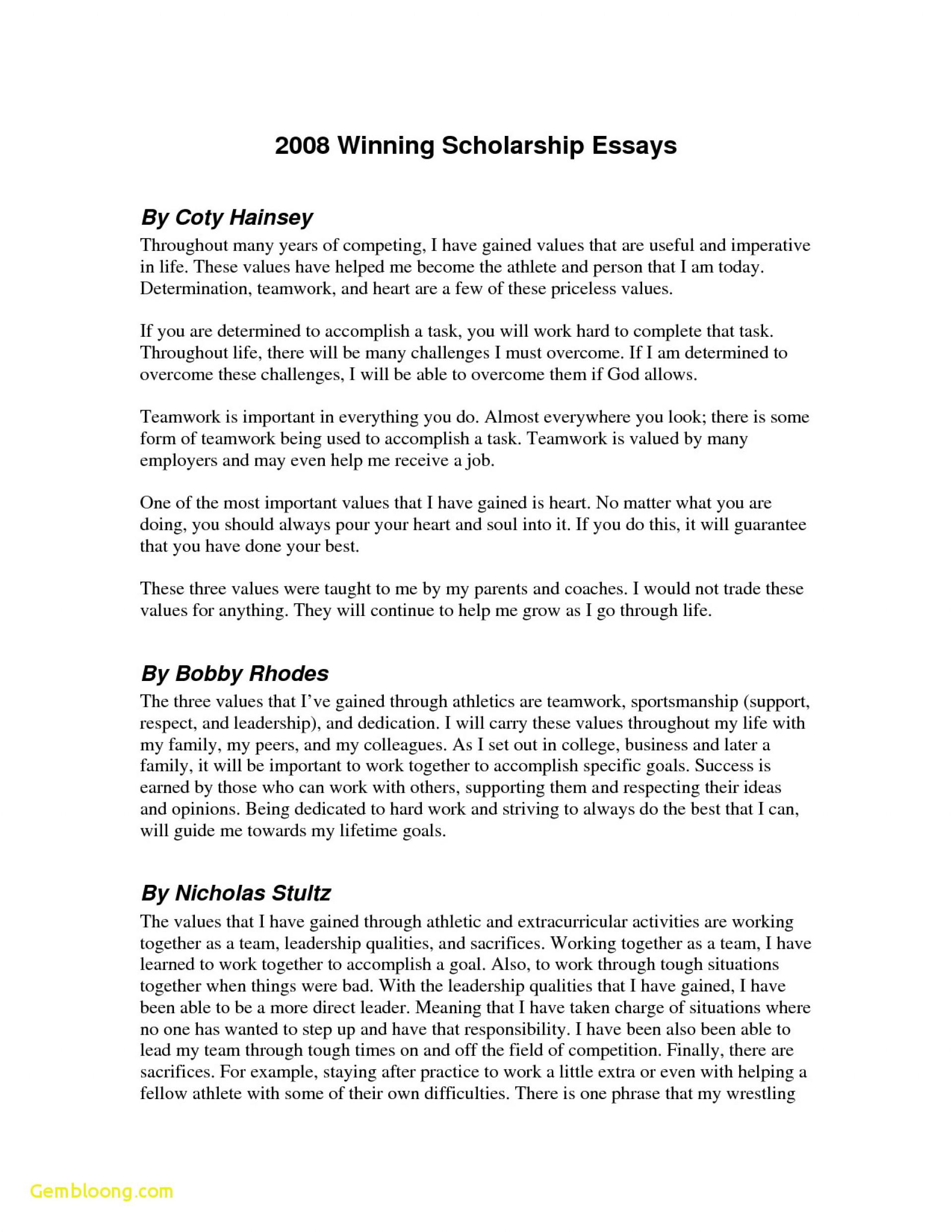 011 Sample Winning Scholarship Essays Example Of Essay Luxury Samples Grant Examples Sensational 1920