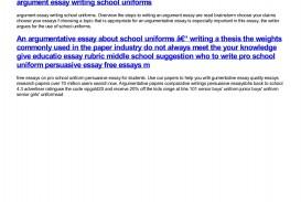 011 Should Students Wear School Uniforms Essay Example Argumentative Impressive Ielts Uniform Sample
