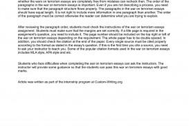 011 Terrorism Essay P1 Wonderful Topics In English War On