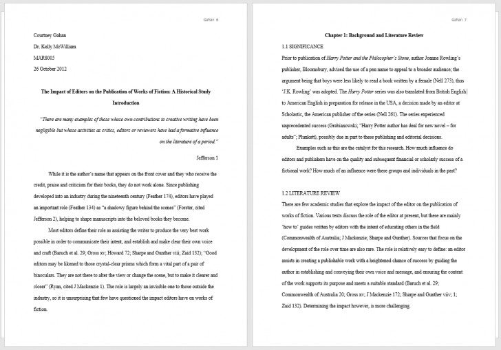 011 Thesis Two Pages Example Full What Is Mla Format Fors Unique For Essays Essay A Narrative With Cover Page 728
