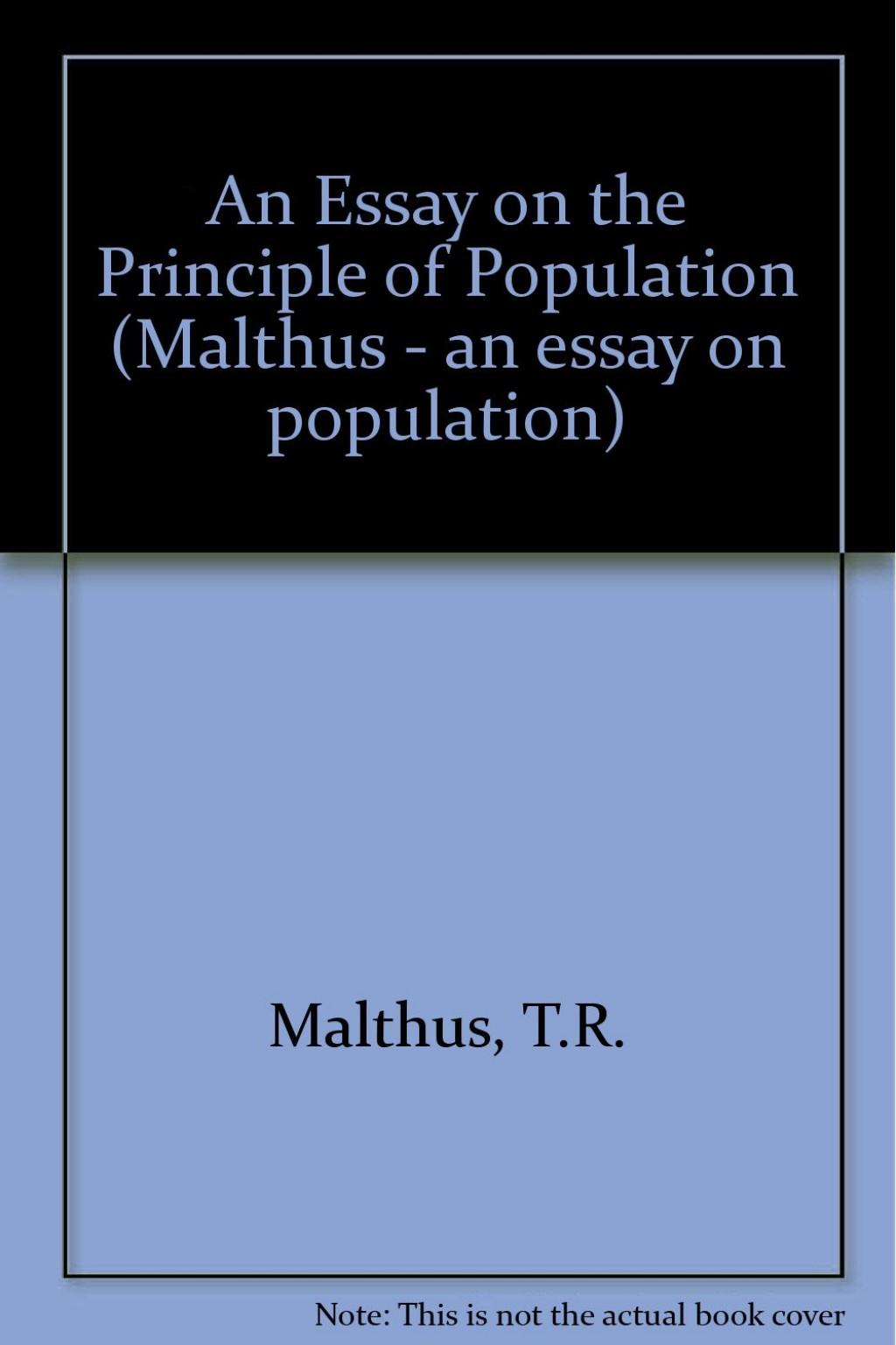 011 Thomas Malthus Essay On The Principle Of Population 61cetxxixjl Stupendous After Reading Malthus's Principles Darwin Got Idea That Ap Euro Large