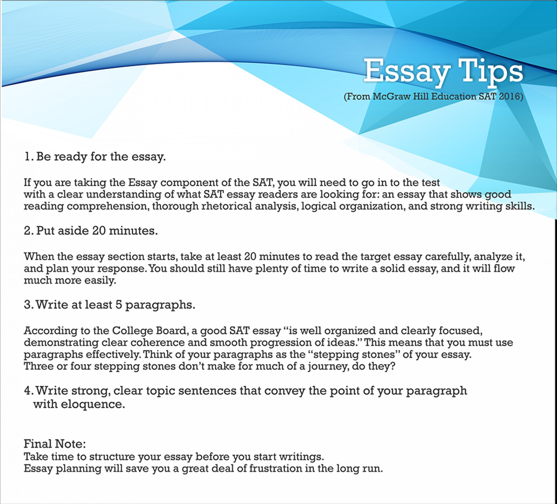 011 Tips On Sat Essay3 Essay Example Dreaded Time With Breaks Length Limit 1920