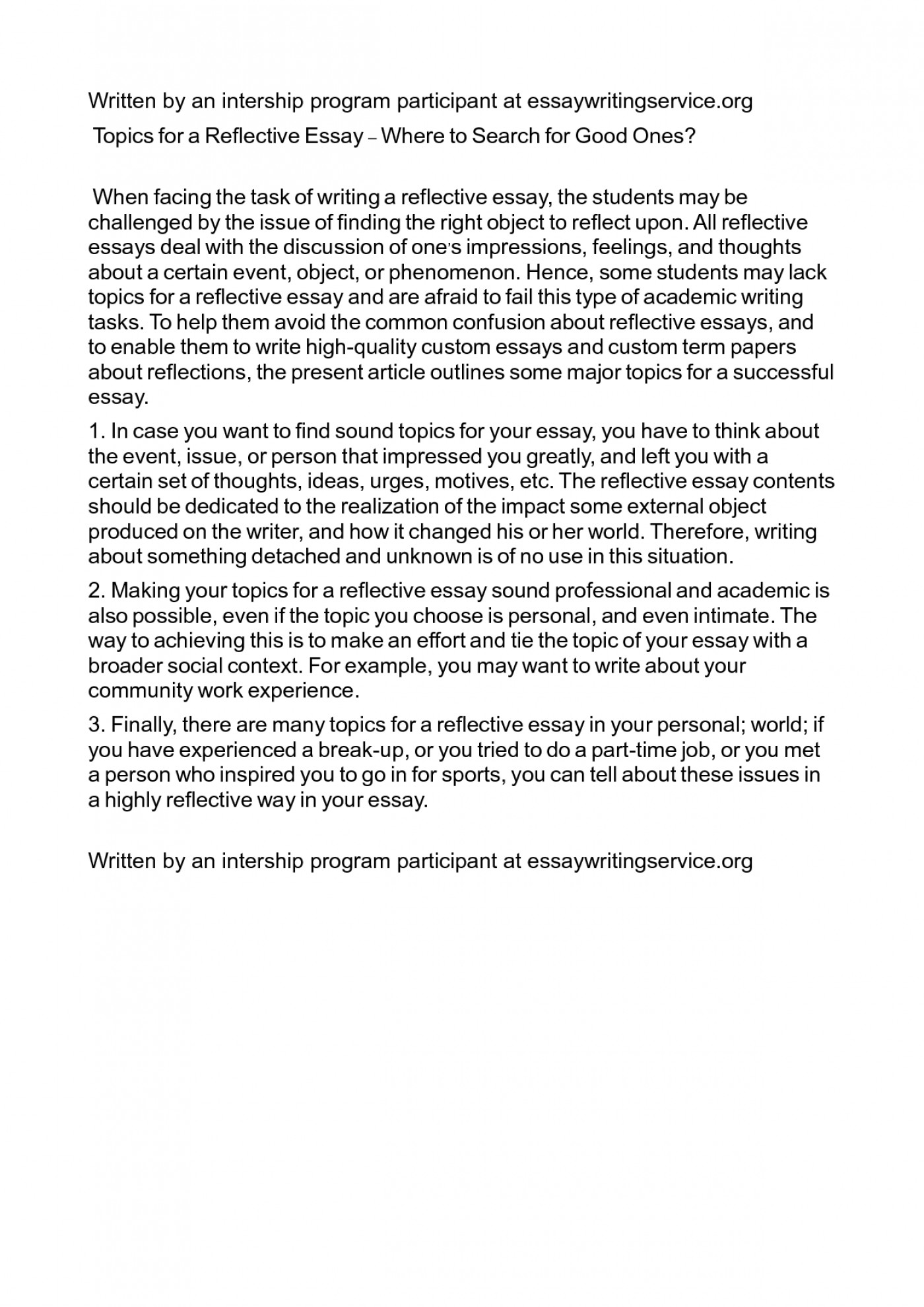 critical reflection essay example nursing
