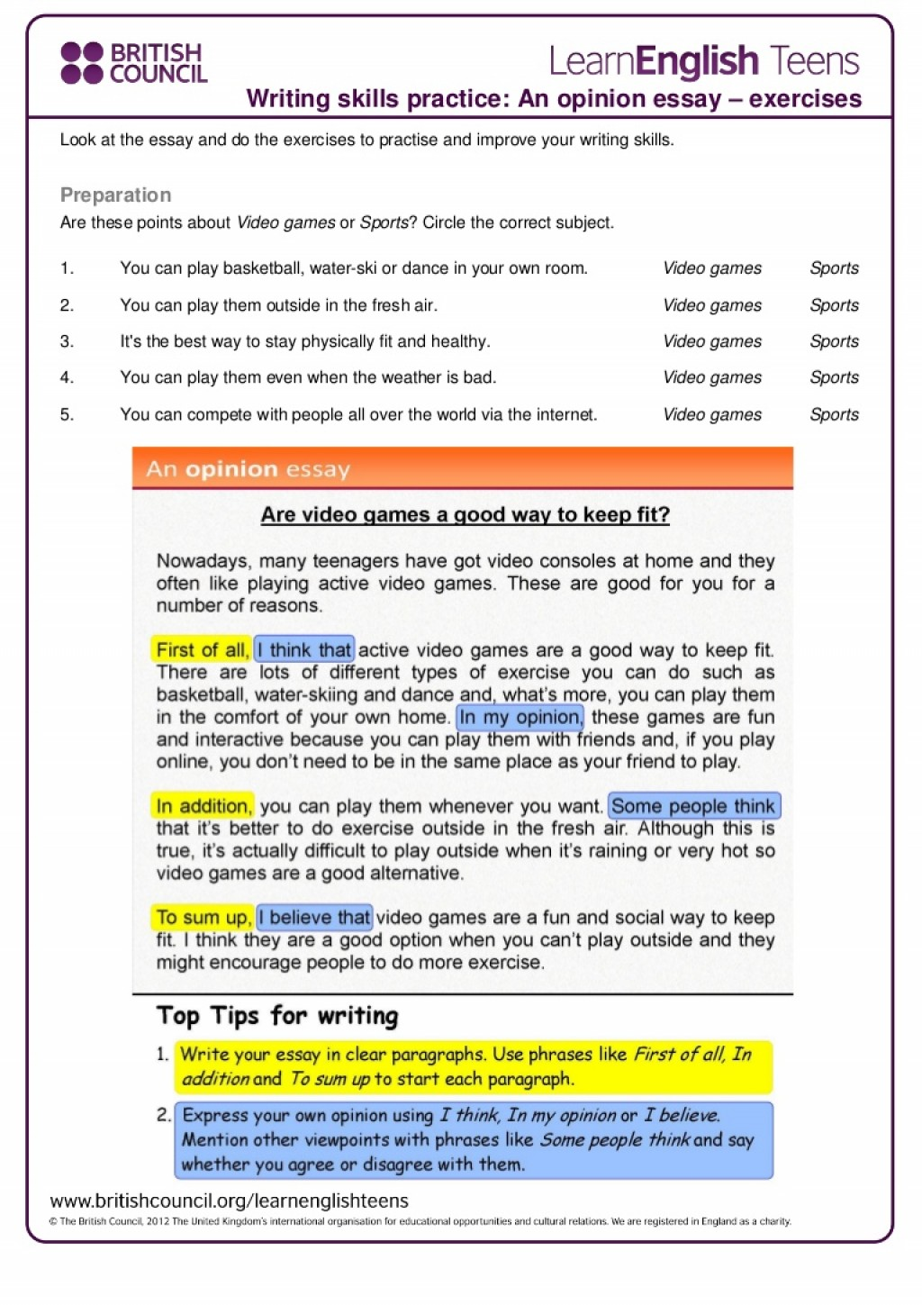 011 Writing Skills Essay Online Ielts Courses Podcast Jc Economics How To Write An Opinion 4th Grade Anopinionessay Exercises Thumbn Magnificent Prompts 6th Examples 3rd Large