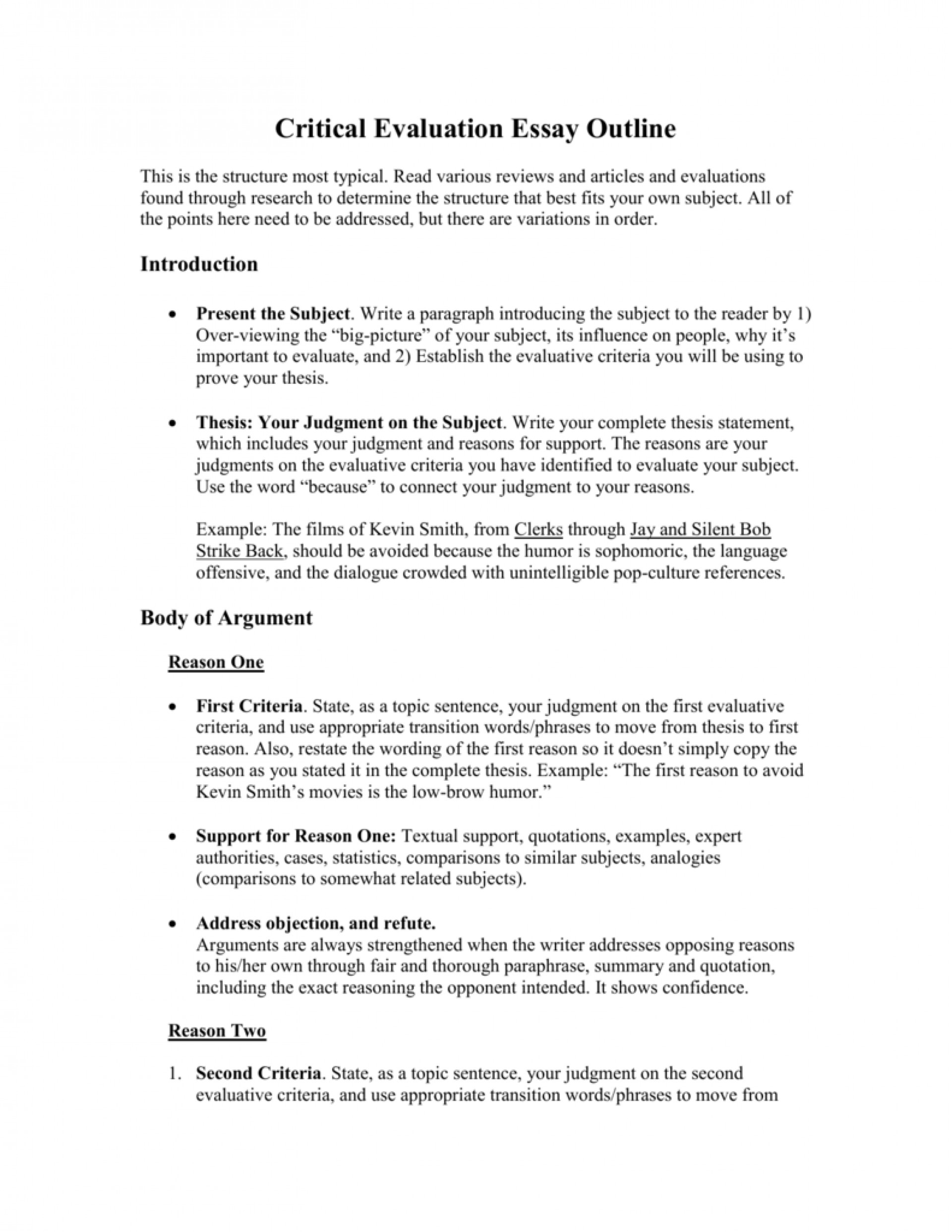 012 007278317 1 Essay Example Evaluation Formidable Examples Critical Outline Thesis Course 1920