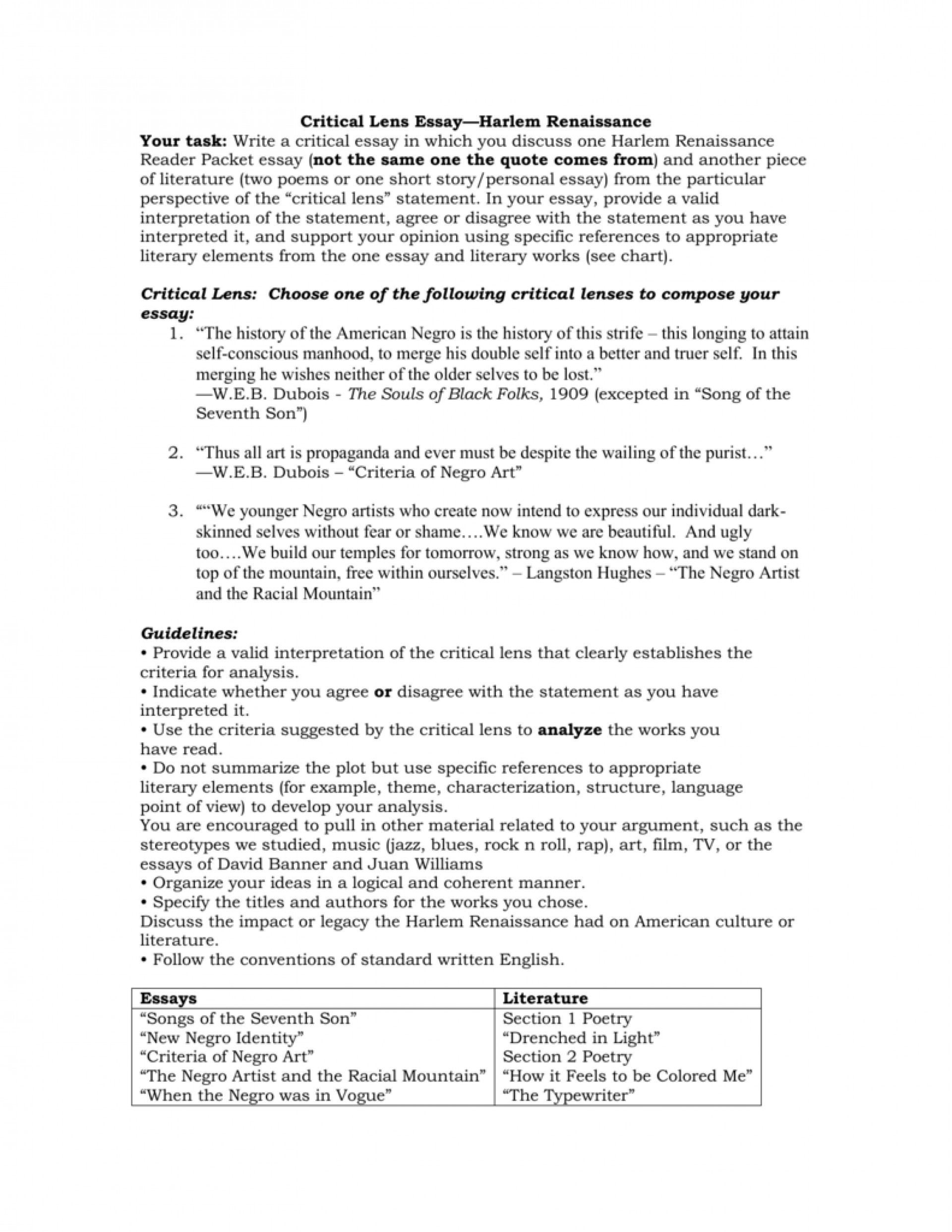 012 007525800 2 Essay Example Critical Best Lens Sample Template English Regents 1920