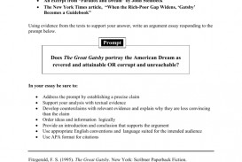 012 008810008 1 The Great Gatsby Essay Prompts Beautiful Chapter 3 Questions Writing