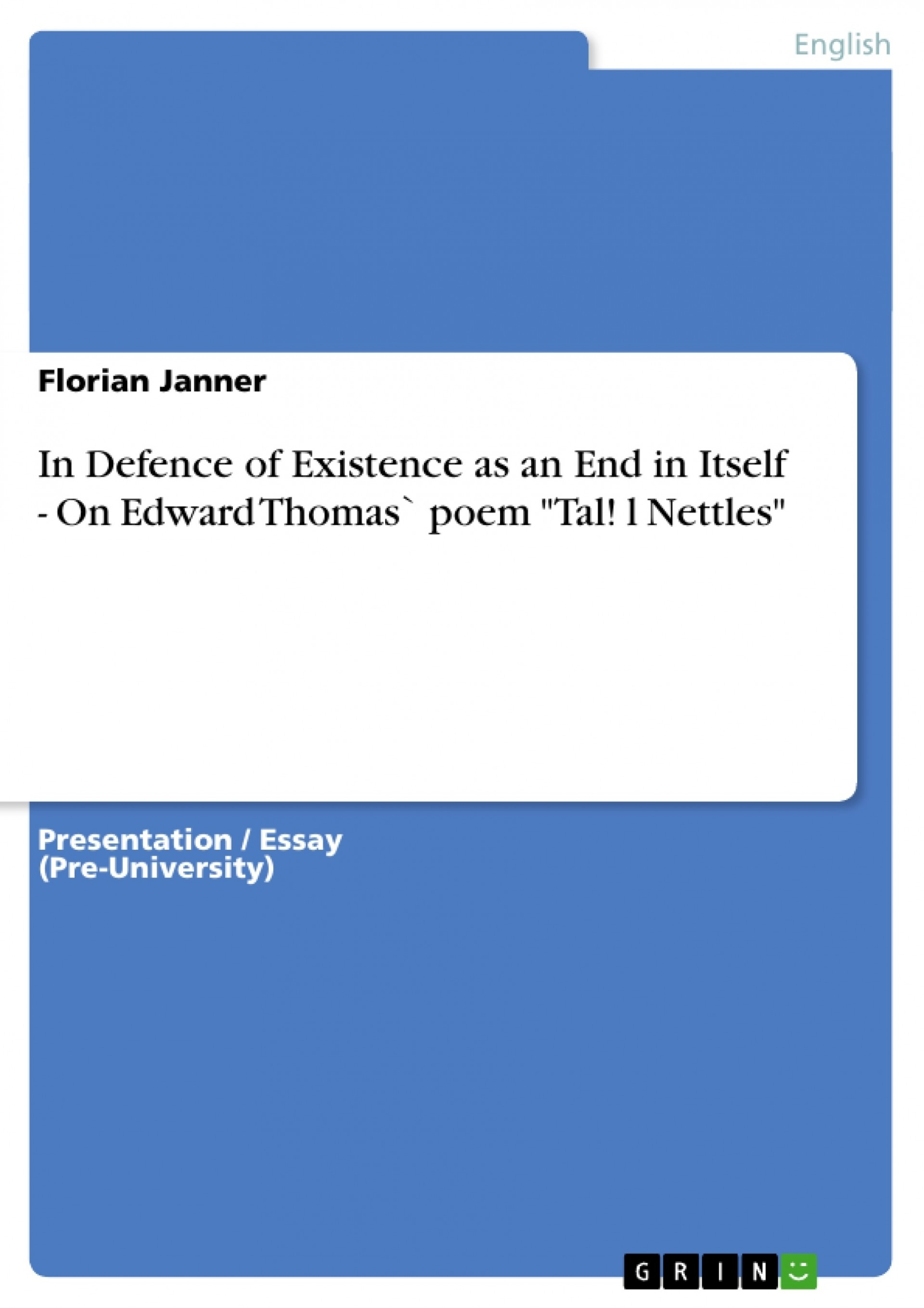 012 97561 0 Essay Example Nettles Wonderful Poem Analysis Tall Annotated 1920