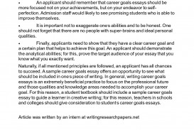 012 Best Photos Of Sample Work Goals Writing Smart My Essay Example L Dreaded Academic For College Students Scholarship Future High School
