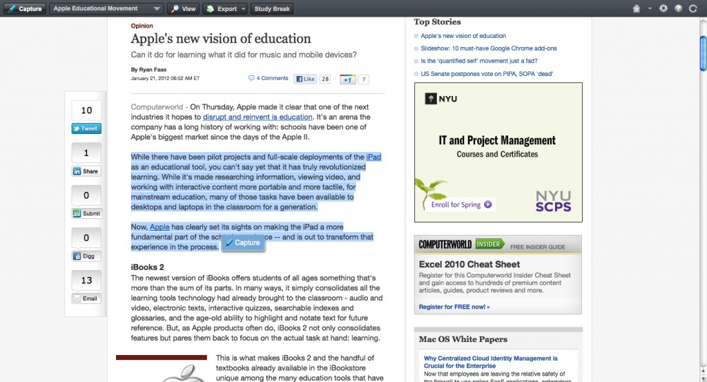 012 Citing Website In An Essay Example Screenshot2012 21at11 Unique A Mla Paper How To Cite Harvard Style Large