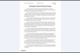 012 Compare And Contrast Essays Sample Archaicawful Essay Pdf High School College For 5th Grade