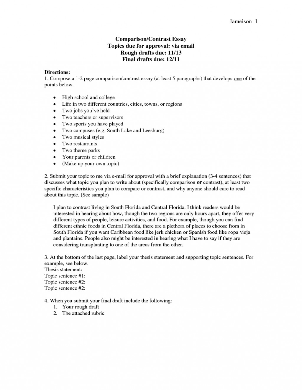 012 Compare Contrast Essay Examples Example For College Essays Format Of High School Vs And Outline 4 3rd Grade 4th 6th Pdf Block Middle Food Unusual Comparison Topics Large