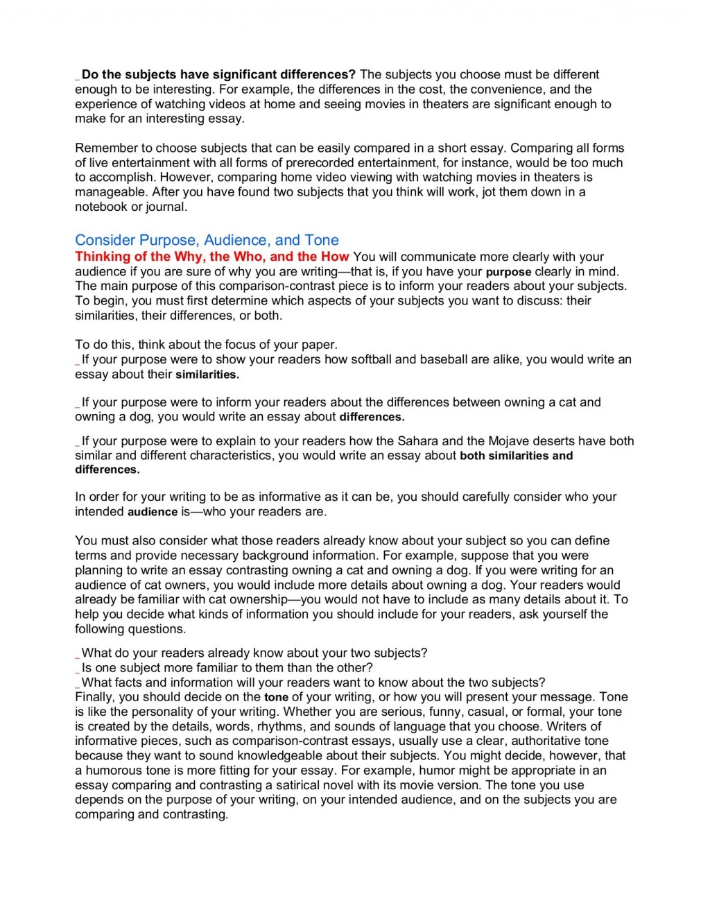 012 Comparing And Contrasting Essay Unique Comparison Contrast Sample Pdf Compare Structure University Topics On Health Large