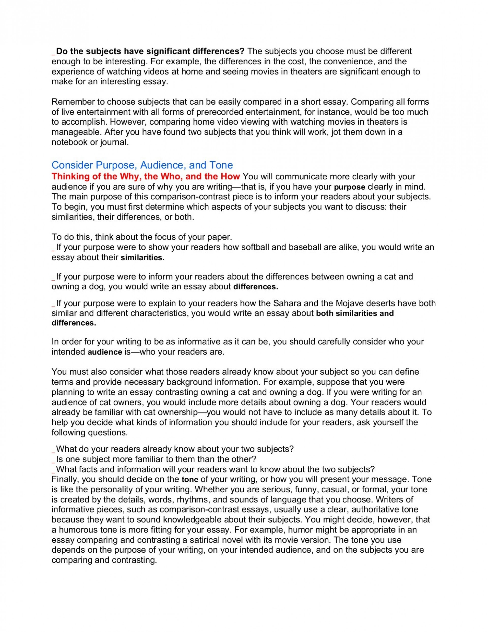 012 Comparing And Contrasting Essay Unique Compare Contrast Topics Easy Sample 6th Grade Outline Middle School 1920