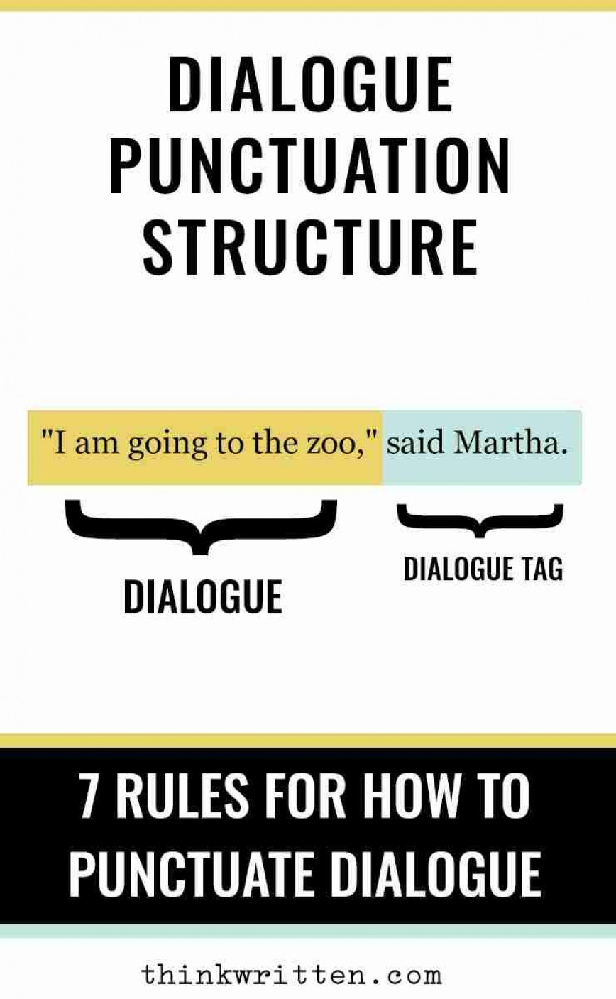 012 Dialogue Punctuation Structure When Quoting In An Essay Where Is The Exceptional
