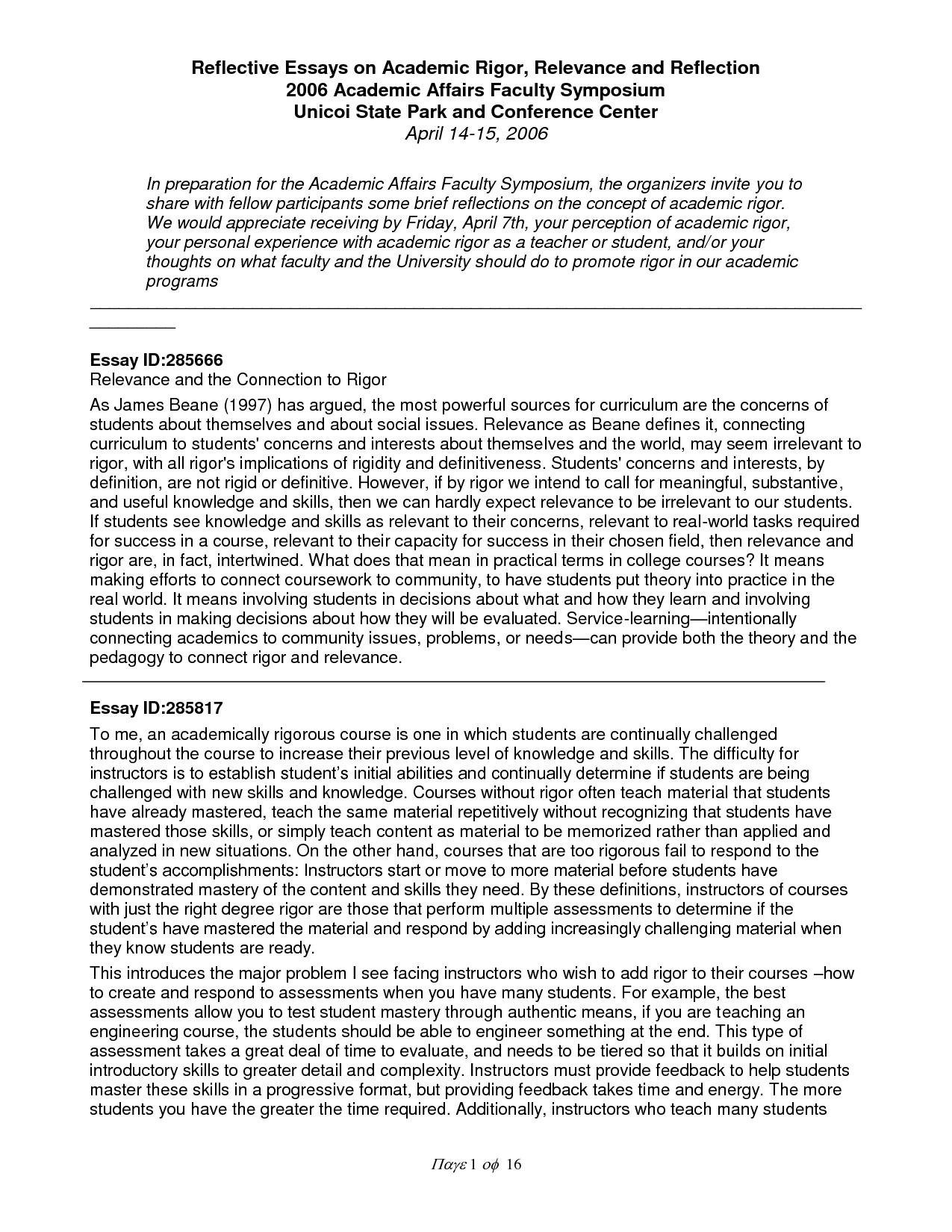 012 English Writing Sample Essays Essay Example Self Reflective Academic L Striking Creative Full