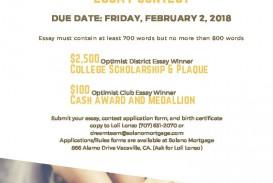 012 Essay Contest Example Optimist Wondrous International Winners Due Date Oratorical