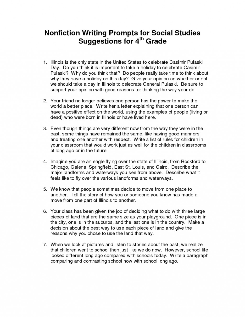 012 Essay Example 4th Grade Writing Prompts Examples 215531 Questions For To Kill Mockingbird Part Impressive A 1 Discussion Chapter 16 14 15 Large