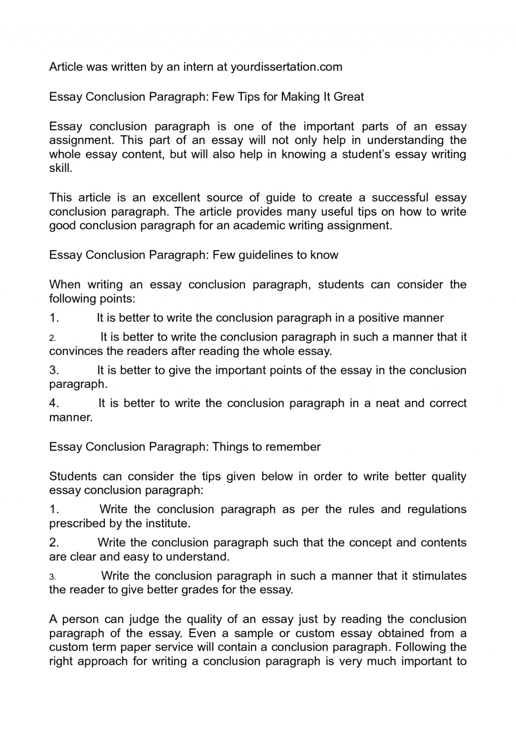 012 Essay Example 5shf71r8k8 What Is Conclusion In Surprising A An Good Paragraph For Narrative Large