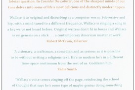 012 Essay Example 71vattmlwyl Consider The Exceptional Lobster Rhetorical Analysis And Other Essays Summary