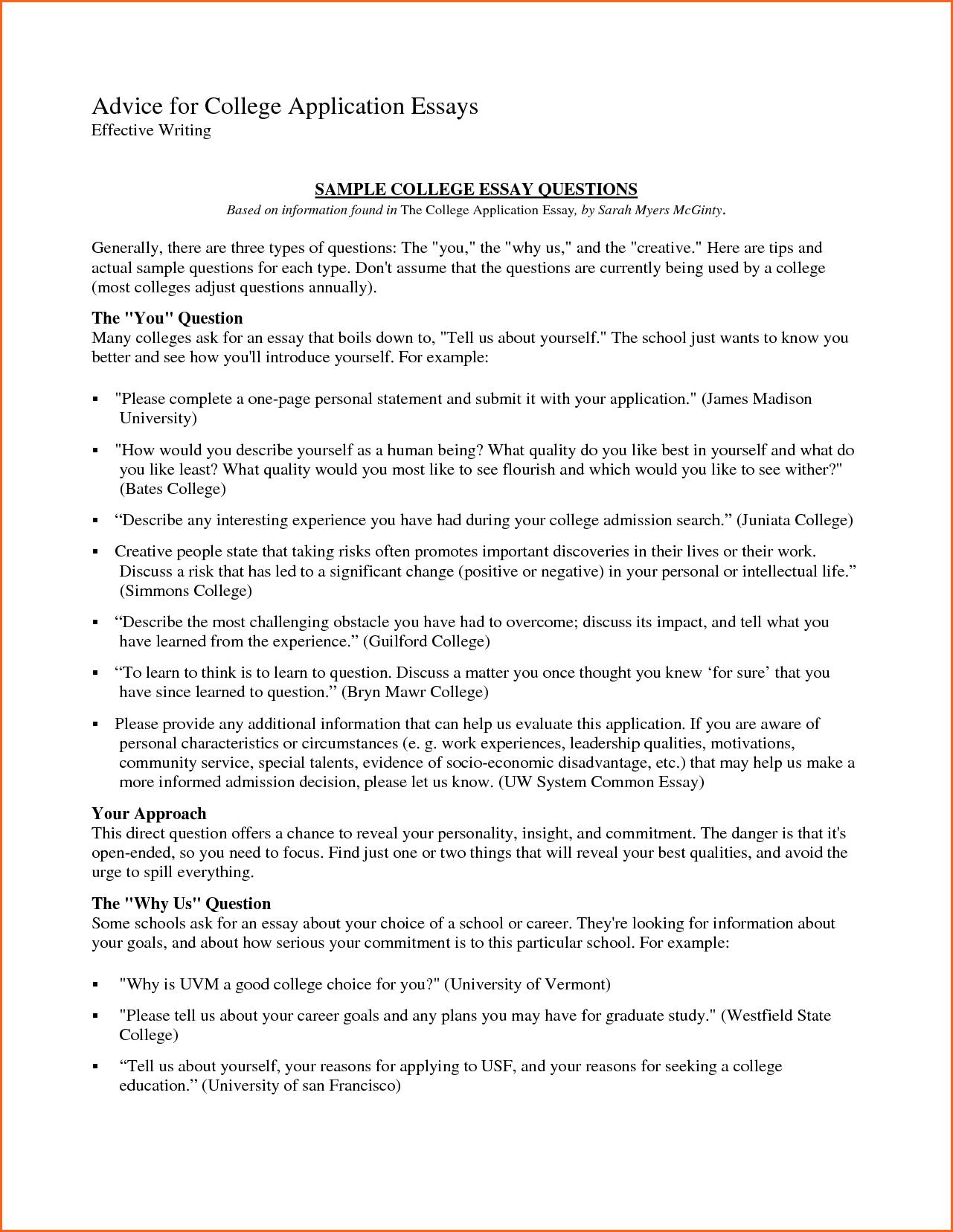 Best college application essay king'