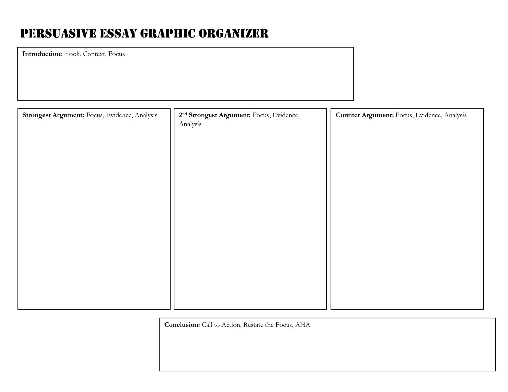012 Essay Example Argumentative Graphic Organizer Pdf Persuasive 473200 Impressive Middle School Full