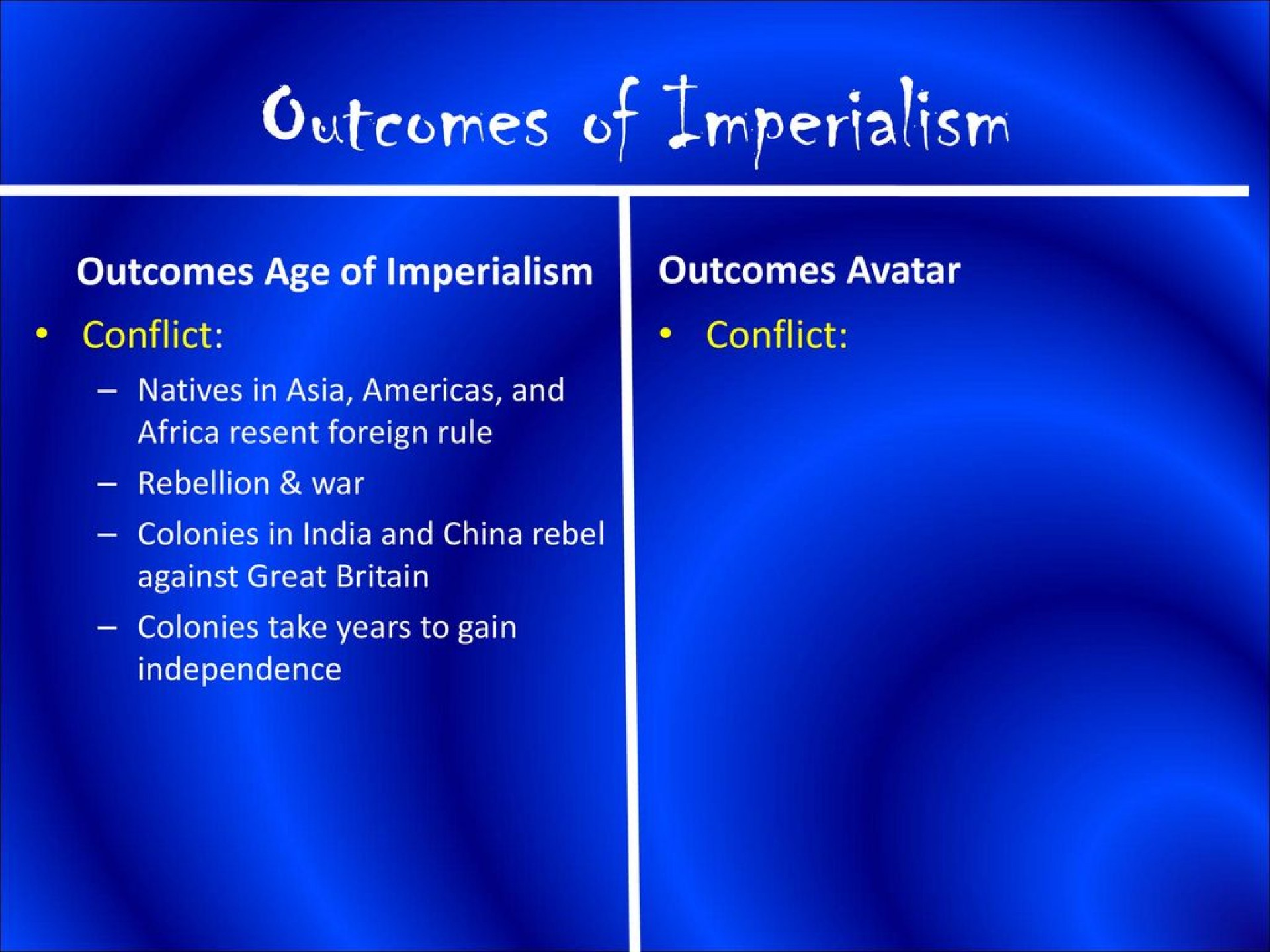 012 Essay Example Avatar Imperialism Stirring 1920
