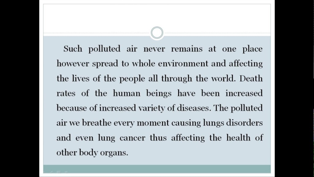012 Essay Example Cause And Effect On Pollution Astounding About Air In Cities Noise Water Large