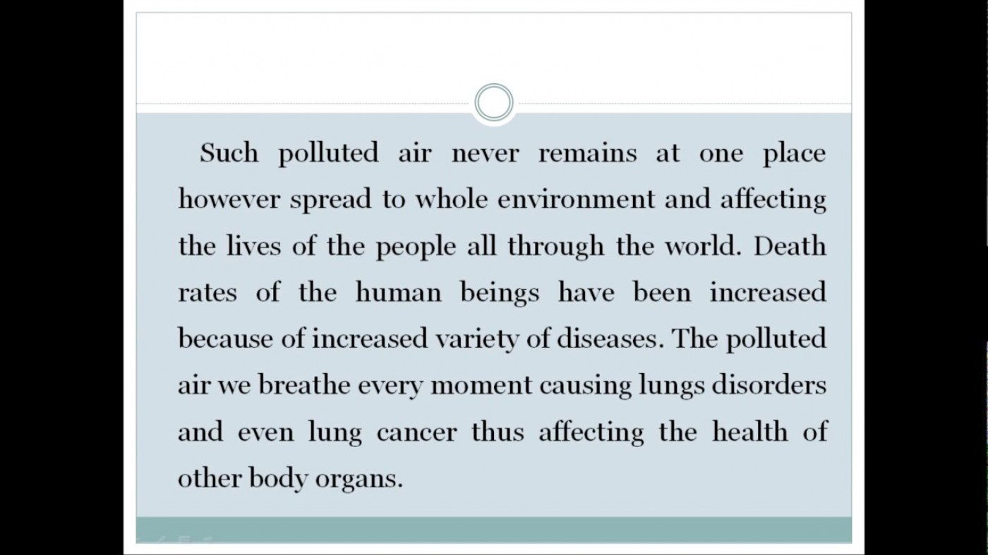 012 Essay Example Cause And Effect On Pollution Astounding Of About Air Land Ocean 1400