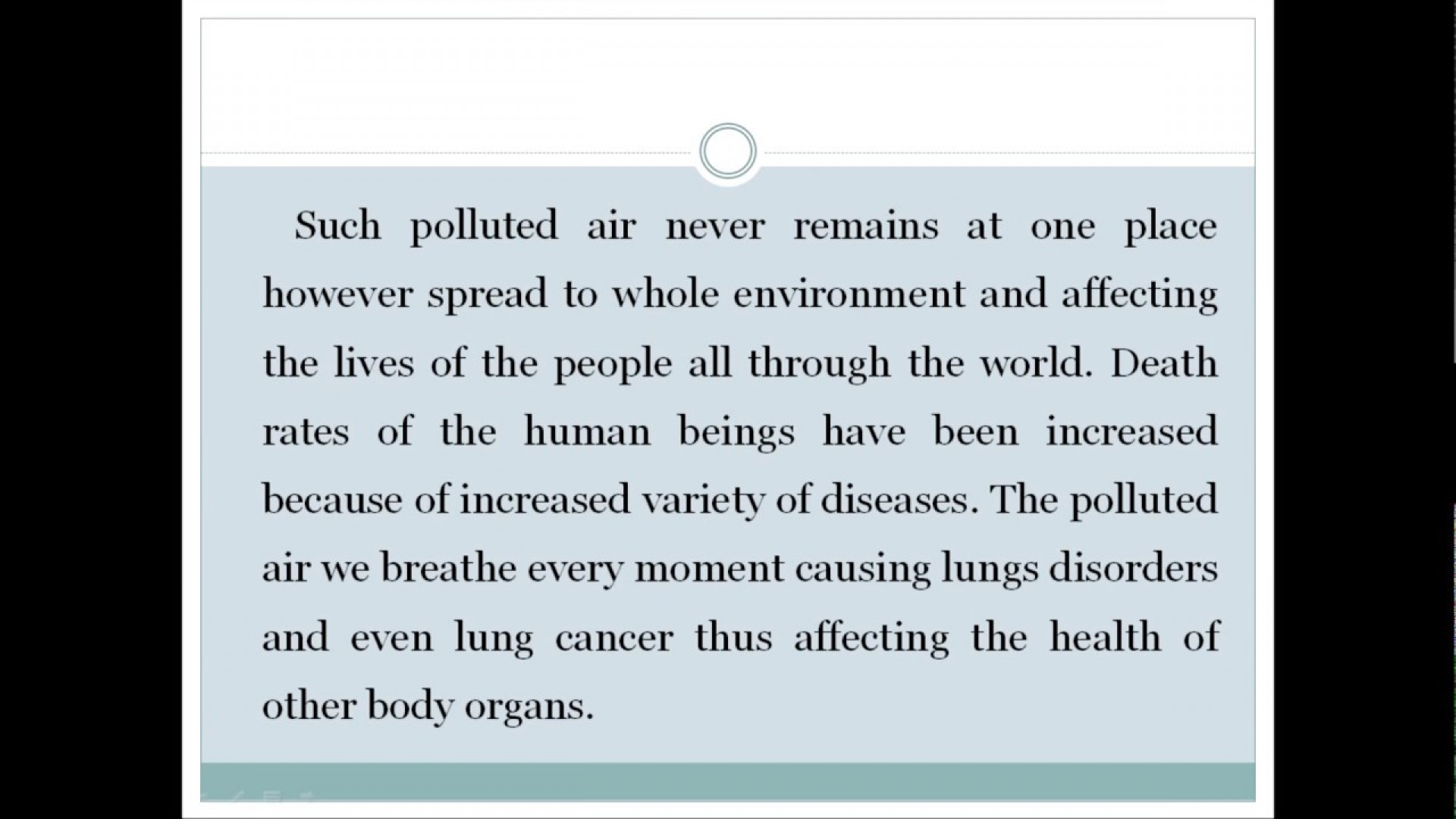 012 Essay Example Cause And Effect On Pollution Astounding Ocean Air Noise 1920