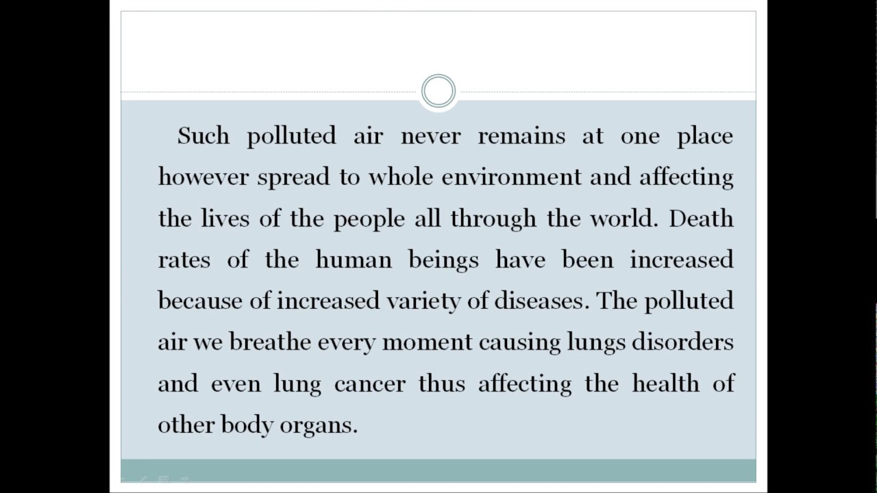 012 Essay Example Cause And Effect On Pollution Astounding Of About Air Water Light Full