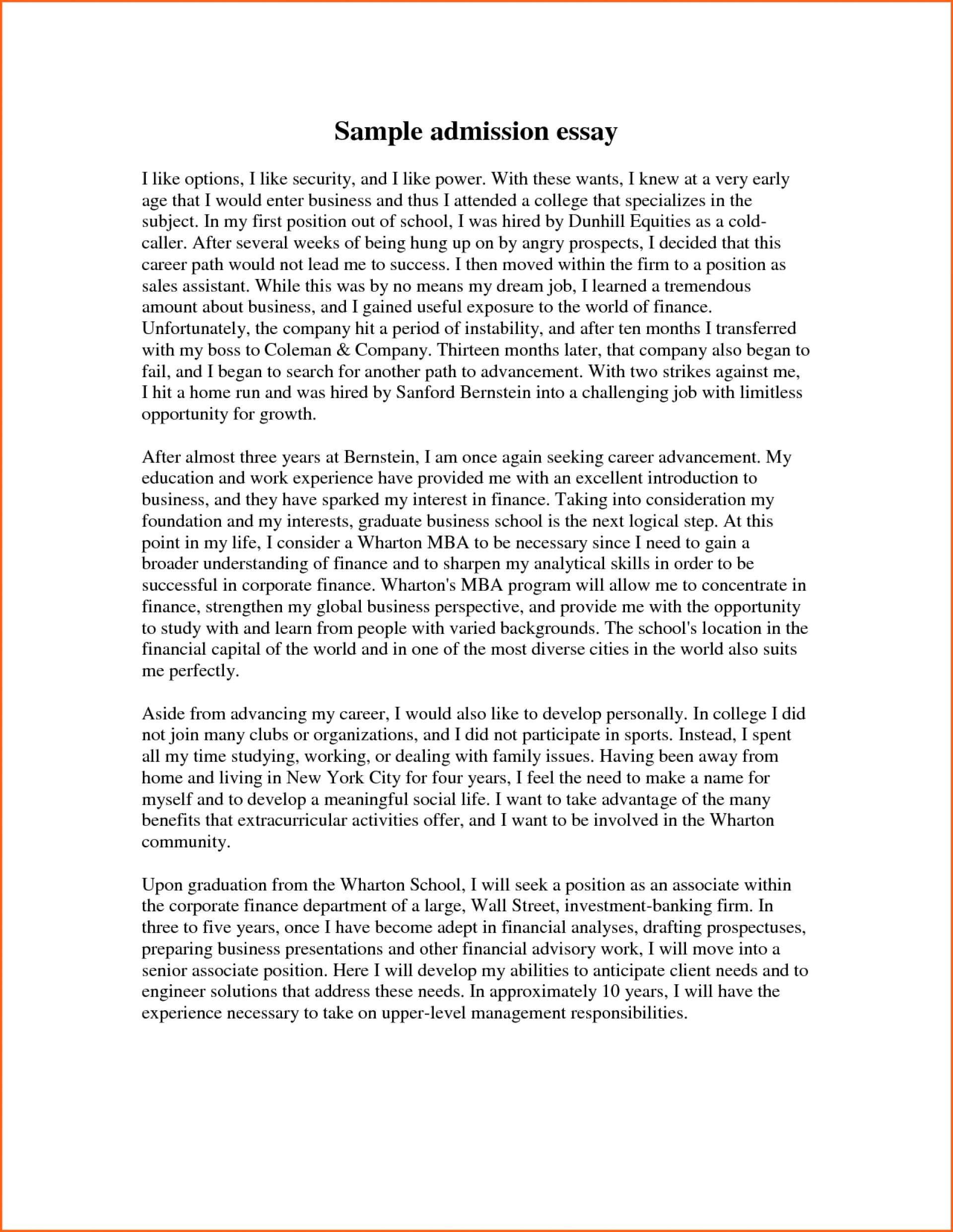 012 Essay Example College Application Examples Excellent Samples Ielts Pdf For High School Students 1920
