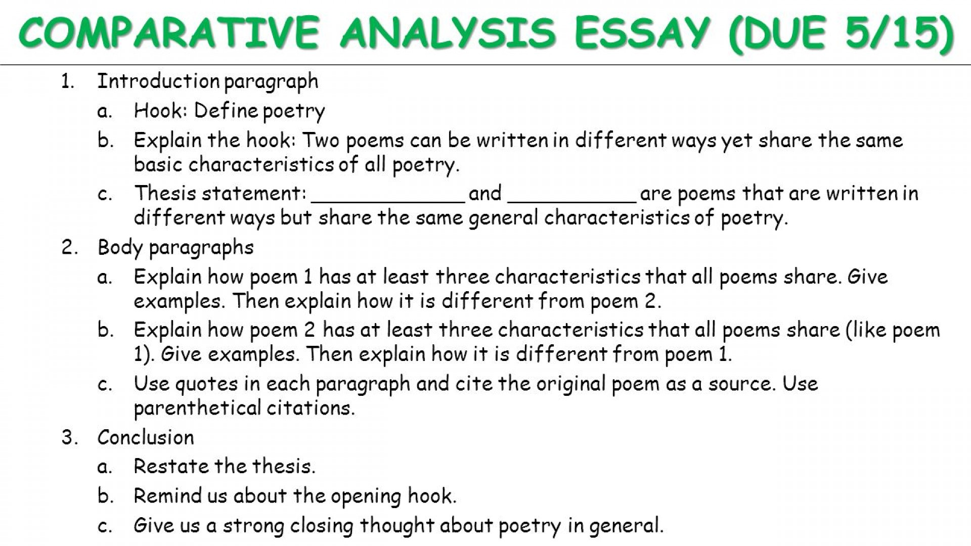 A comparative essay introduction example