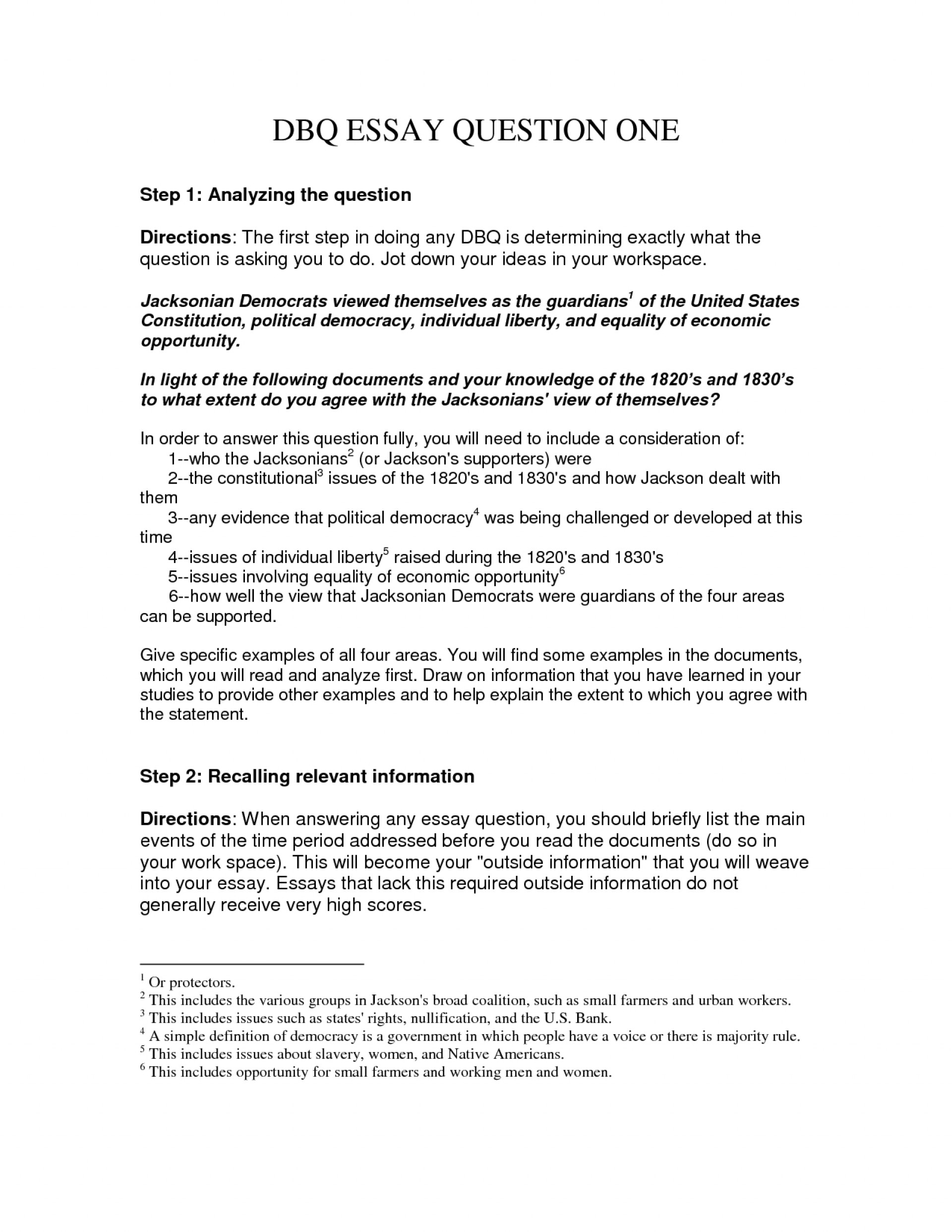 012 Essay Example Dbq Question One Answering Questions In Unforgettable Format Apa Multiple 1920