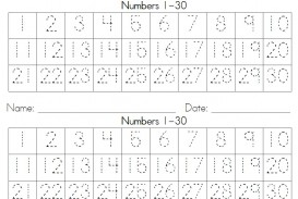 012 Essay Example Dotted252bnumbers252b1 30252bwriting252bstrips How To Write Numbers In Frightening An Do You Correct Way