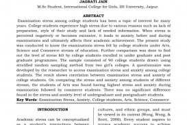 012 Essay Example Effect Of Stress On Students Exceptional Effects Among College Cause And