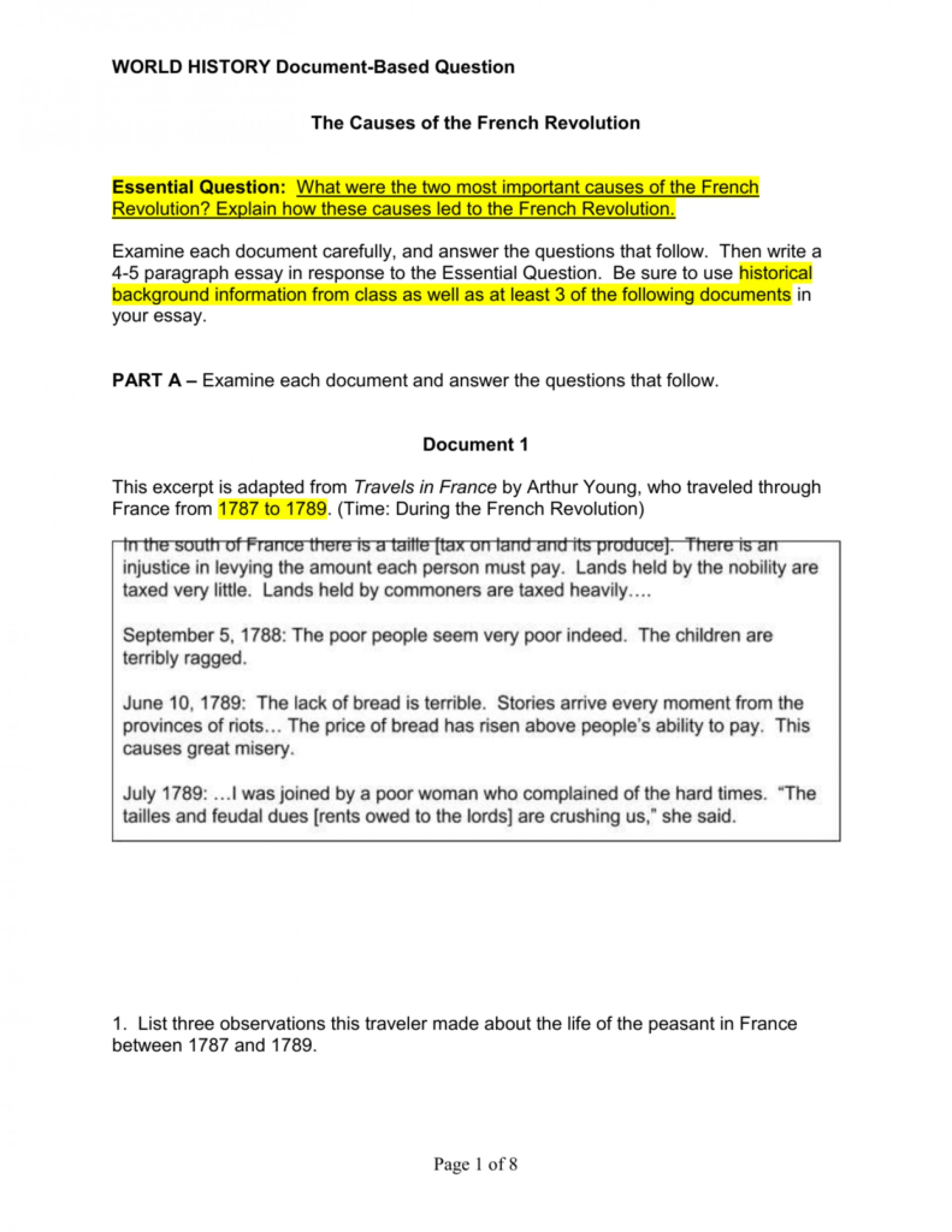012 Essay Example French Revolution 007071144 1 Phenomenal Outline Titles Causes Conclusion 1920