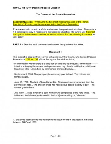 012 Essay Example French Revolution 007071144 1 Phenomenal Outline Titles Causes Conclusion 360