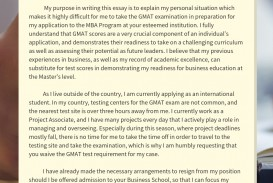 012 Essay Example Gmat Waiver Mba Shocking Sample Topics Awa Essays Free Download