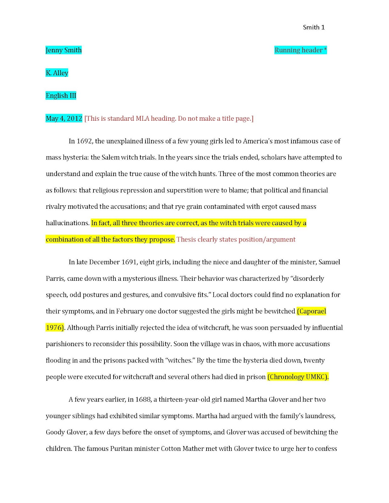 012 Essay Example How To Cite In Examplepaper Page 1 Best A Evidence Research Paper Format College Put Citation Apa Full