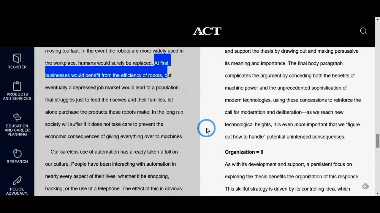 012 Essay Example How To Write An Act Dreaded Examples Template Full