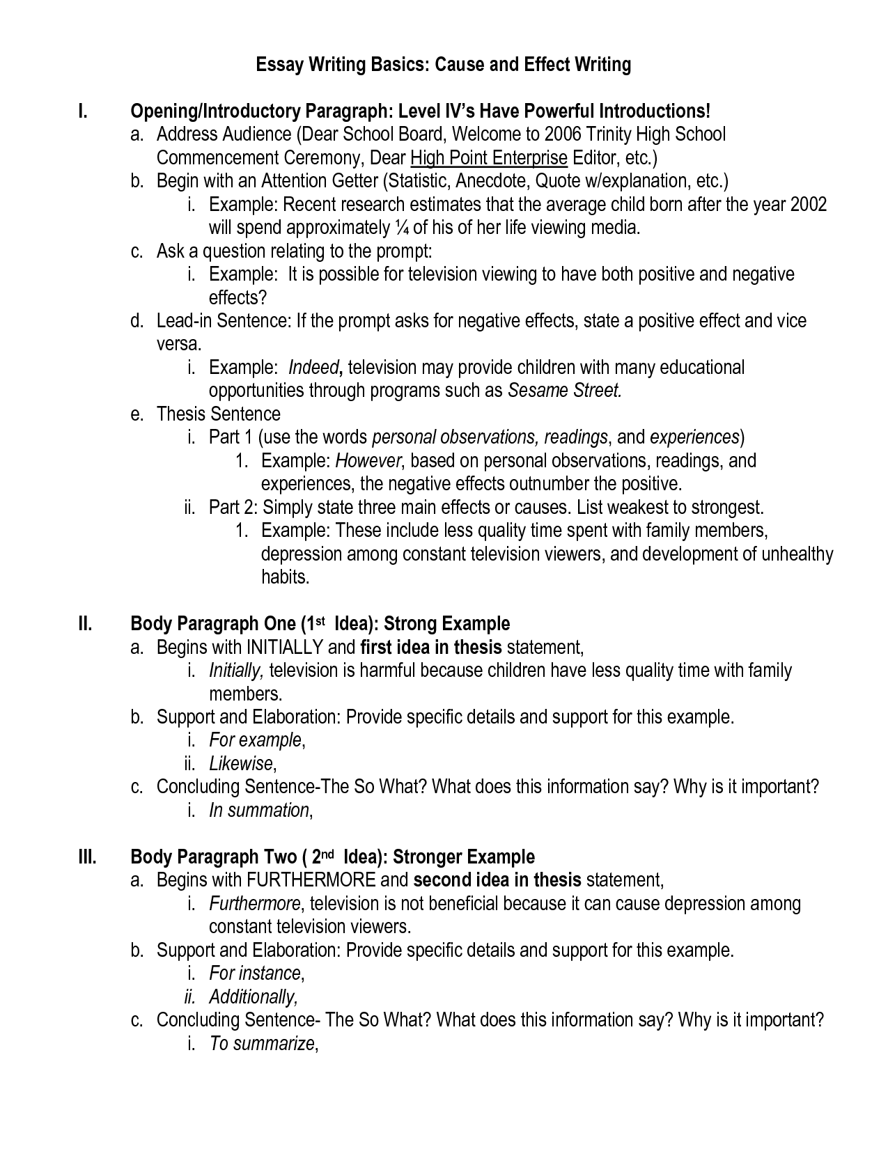 012 Essay Example How To Write Cause And Effect Sample Resume Writing Best Wondrous Introduction Pdf Full