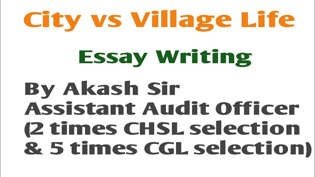 012 Essay Example Life In Village Impressive A On Indian English Large