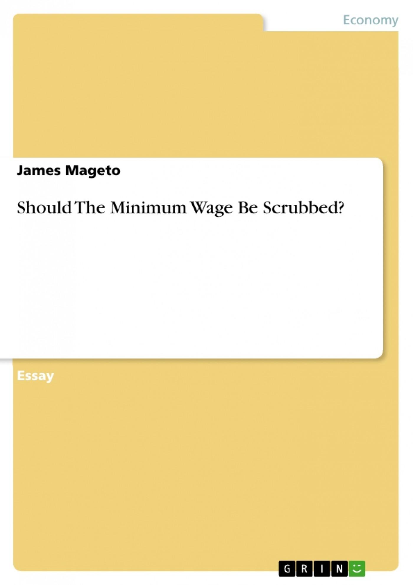 minimum wage essays