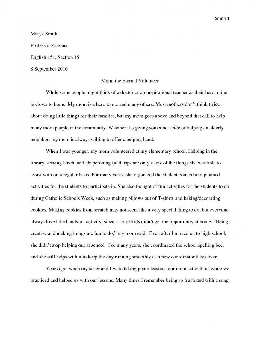 012 Essay Example My Hero Mom Essays Template Heroism About Moment Of Pain And Regret Short Descriptive Expository Role Model Examples An Narrative Tribute Samples Wondrous Introduction In History English