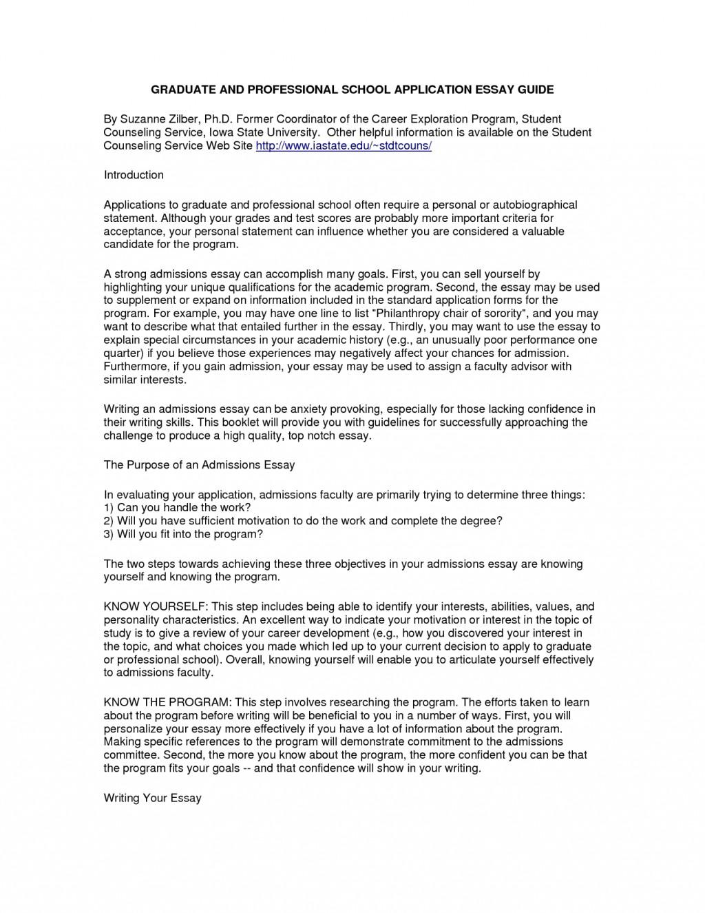 grad school application personal statement example